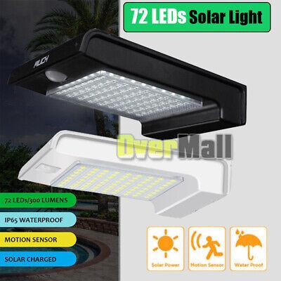 72LED Solar Light Outdoor Motion Sensor Security Deck RV Yard Fence Patio Light  ()