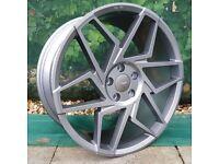 "19"" Veemann V-FS27R Gunmetal 5x112 for VW Audi Seat etc"