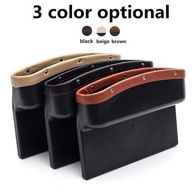 New Car Seat Catcher Gap Filler Storage Box Organizer Collector With Cup Hold