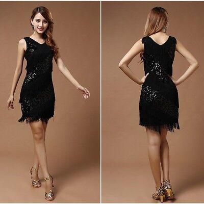 NEW Latin Salsa Tango Rumba Cha cha Ballroom Dance Dress Outfit Fancy Dress UK