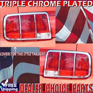 2005 2006 2007 2008 2009 FORD MUSTANG Chrome ABS Tail Light Bezel Covers Trims