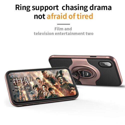 For iPhone X 6 6S 7 8 Plus Ring Shockproof Protective Rugged TPU Back Case Cover