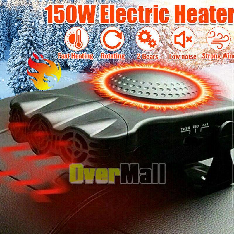 Portable Electric Car Heater 12V 150W Heating Fan Defogger Defroster Demister A+