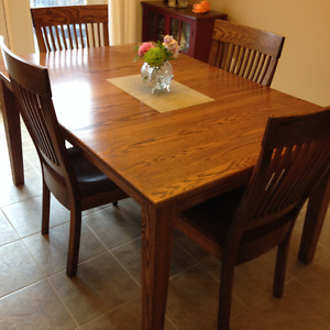 Solid oak dining room set from Wheaton's