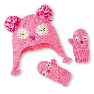 Toddler Girls Hat & Mitten Set's different styles &size (6M-24M)