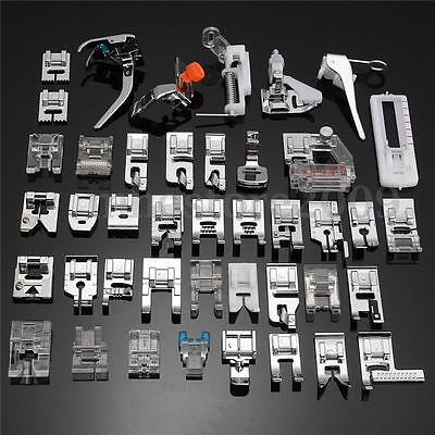 42X Domestic Sewing Machine Foot Presser Feet FITS For Brother Singer Janome Kit