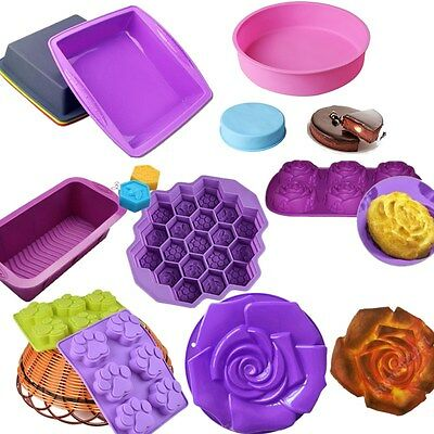 Silicone Bread Mold Cake Pan Muffin NonStick Bakeware Mold Baking Tin Liner Tray