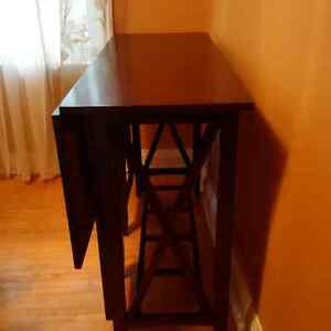 SOLID WOOD TALL TABLE