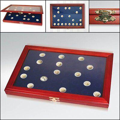 SAFE 5867 Münzen-Vitrine für 24 Stück 10 € Euro Münzen in Dosen / Kapseln