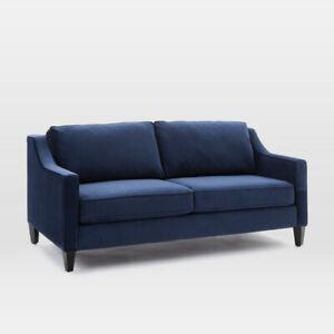 "West Elm - Paidge Loveseat couch (72.5"") Ink Blue - Like new!!!"