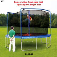 New 13' trampoline & Enclosure With Removable Flash Zone
