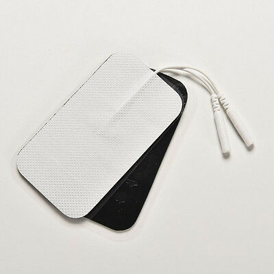 2x Hot Large Reusable Large Electrode Self Adhesive Pads For Tens Ems Machin Bhh