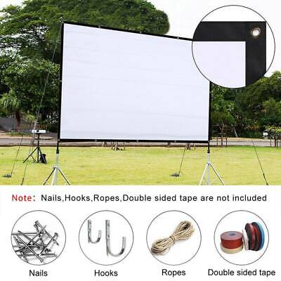 "120"" Projector Screen Foldable Home Theater In/Outdoor Movie Projection 16:9/4:3"