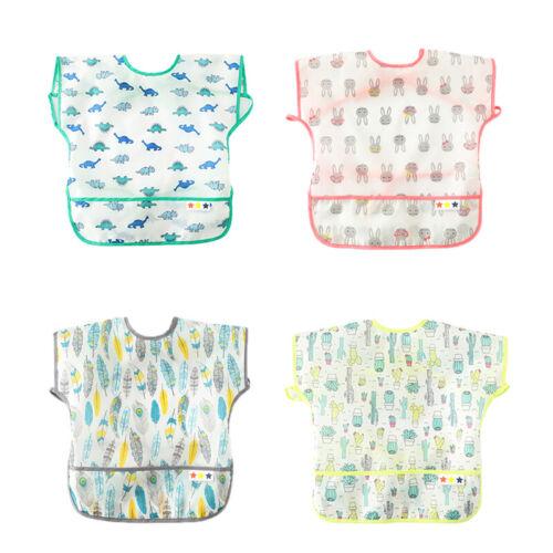 Baby Infant Feeding Bibs Apron Waterproof Cloths Sleeveless