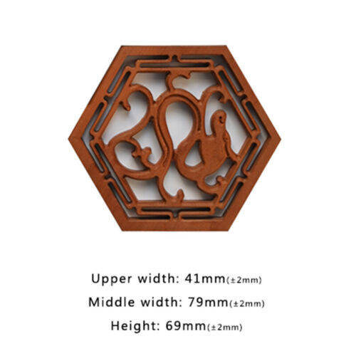 1 Piece Erhu 二胡音窗 Erhu Making Restore Material Dragon Style Erhu Sound Window