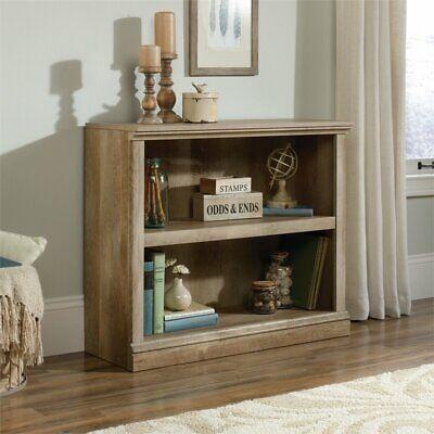 Sauder Select 2 Shelf Bookcase in Lintel Oak 2 Shelf Oak Bookcase