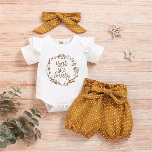 newborn baby girl clothes bodysuit romper dot