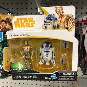 Star Wars Force Link 2.0 C3PO and R2D2 figure 3.75inch Exclusive