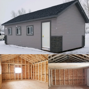 Sheds cabins and garages