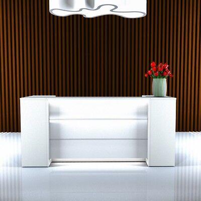 Empfangstheke NOVUM 2,2 Meter in weiß - Sofort lieferbar - mit LED-Beleuchtung
