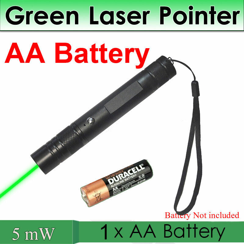 astronomy powerful aa battery green laser pointer