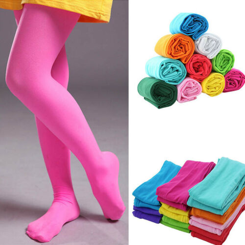 Kids Girls Tights Pantyhose Hosiery Silk Stockings Ballet Da
