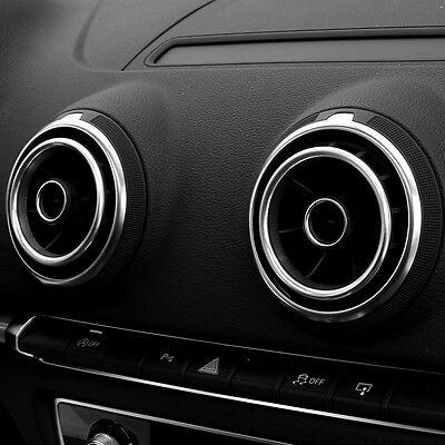 Audi A3 S3 Círculo Cromo Boquilla Rejilla Ventilación Aire Accesorio Interior