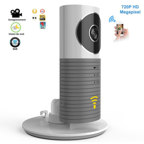 HD 720P Wireless Smart Camera WiFi IP Baby Monitor Security Surveillance Grey