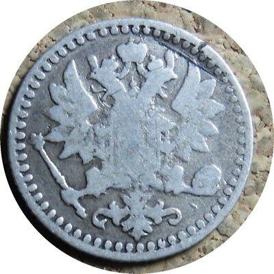 elf Finland under Russia 25 Pennia 1868 S Silver  Key Date