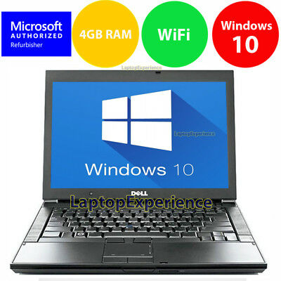 Laptop Windows - DELL LAPTOP LATiTUDE WINDOWS 10 CORE 2 DUO 4GB RAM WIN DVD WIFI PC HD COMPUTER