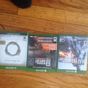 Elder scrolls online ,state of decay and bf4 10$ each