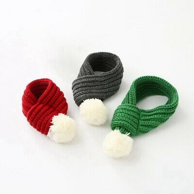 Pet Knitted Christmas Scarf Dog Cat Pet Christmas Costume Collar Accessories USA