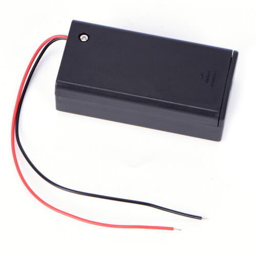 9V Volt PP3 Battery Holder Box DC Case With Wire Lead ON/OFF
