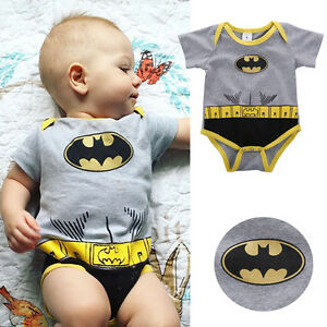 batman b b gar on v tements coton combinaison grenouill re body t pyjama ebay. Black Bedroom Furniture Sets. Home Design Ideas