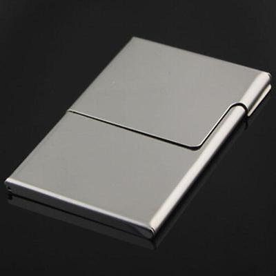 Stainless Steel Business Card Holder Shiny Credit Id Card Wallet Case Purse New