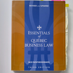 Essentials of Quebec Business Law (with notes)
