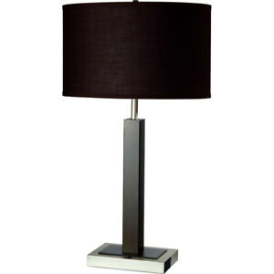 Metal Table Lamp w/Outlet, New