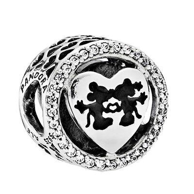 """Pandora 791957CZ Disney Charm Bead """" Mickey & Minnie Love """" Sterlingsilber 925"""