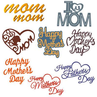 Happy Mother's Day Cutting Dies Metal Stencil DIY Scrapbook Album Paper Card Art