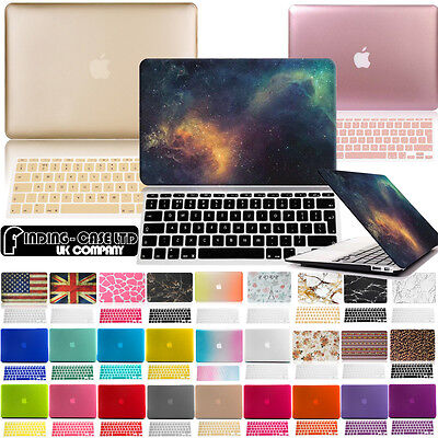 Rubberized Case Cover with Keyboard Skin for Apple MacBook air Pro 11 13 15 (Apple Macbook Air 11 Inch Keyboard Cover)