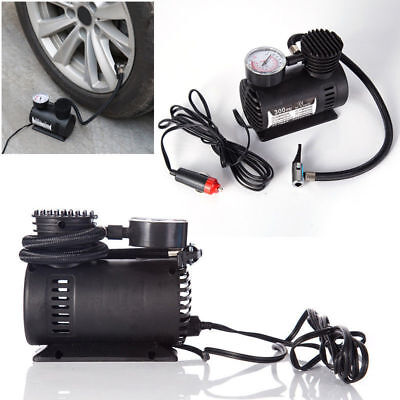12v Car Electric Mini Compact Compressor Pump Tyre Air Inflator 300psicable