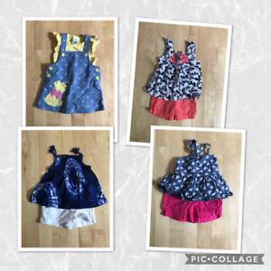 Lot vêtements bébé fille 9-12 mois
