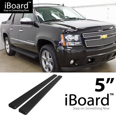 "iBoard Running Board Black 5"" Fit Chevy Avalanche/Suburban/GMC Yukon XL 00-18"