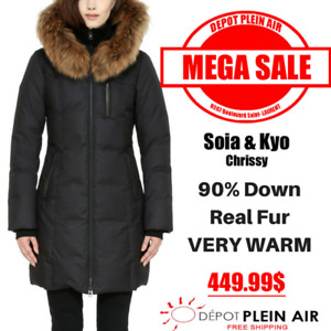 LIQUIDATION!!! SOIA & KYO DUVET WINTER COATS WITH REAL FUR!