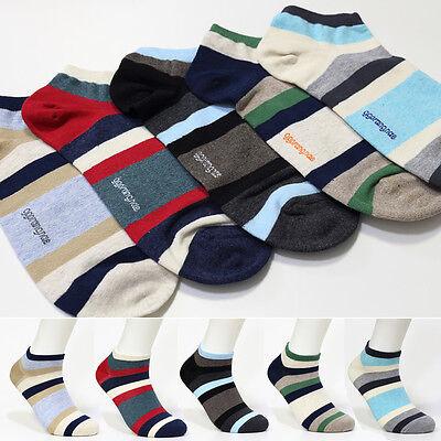 5 Pairs Mens Casual Socks Striped Patterns Socks Made In Korea New Fashion Socks