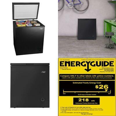 Chest Freezer Deep 5 Cubic Ft Upright Compact Frozen Storage Home Commercial
