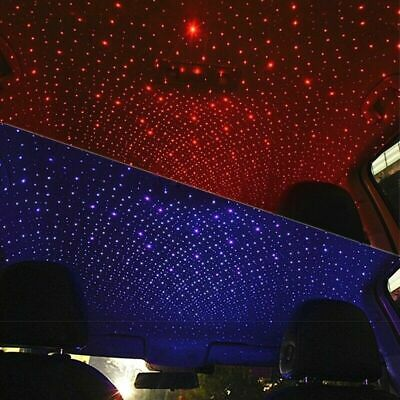 1*USB LED Car Roof Star Night Interior Light Atmosphere Galaxy Lamp Accessories