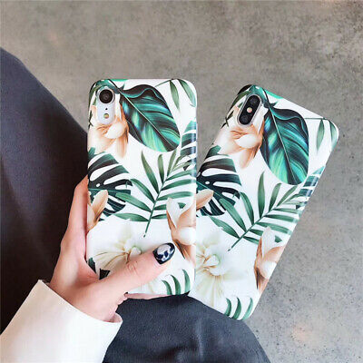 Leaf Phone Cover - Retro Flower Leaf soft Phone case back Cover for iphone XS MAX XR X 8 7 6 plus