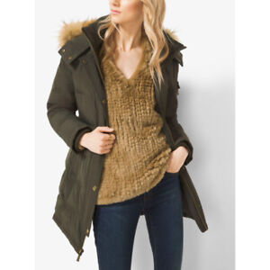 NEW Michael Kors Quilted REAL FUR Hood DAWN Parka