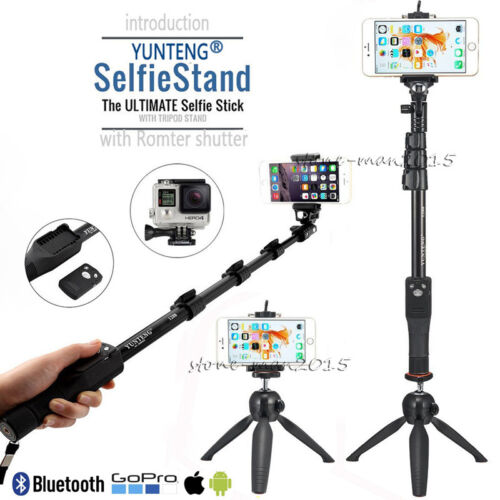 YUNTENG Bluetooth Selfie Stick Monopod+Tripod For iPhone X 8